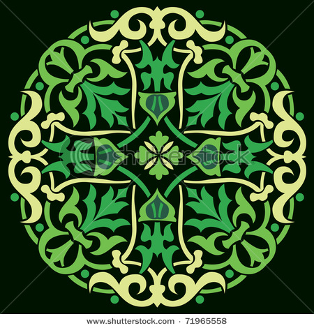 stock-vector-flower-in-old-gothic-frame-on-the-black-background-71965558 (450x470, 127Kb)