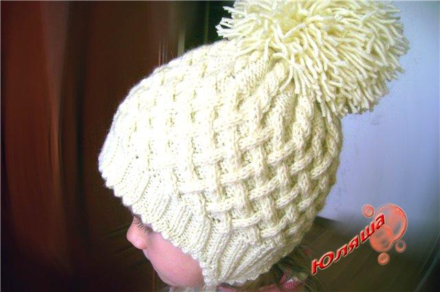 Вязание женские модные шапочки. вязанные зимние шапки для девочек.