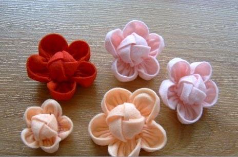 Как сшить цветы из ткани - Изготавлимаем цветы