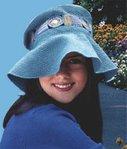 Описание: вязание крючком схемы летней шляпы для девочки. шапки шляпки...