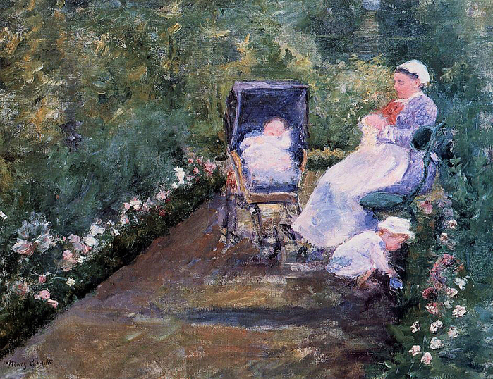 Children in a Garden 1878 By Cassatt, Mary (700x538, 513Kb)