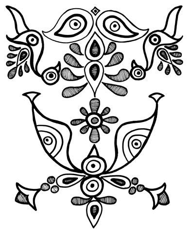 Этнический орнамент, иллюстрация 2085968 (c) Инна Грязнова / Фотобанк.