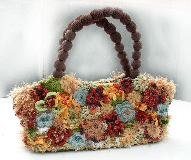 Вязаные сумки крючком с описанием.