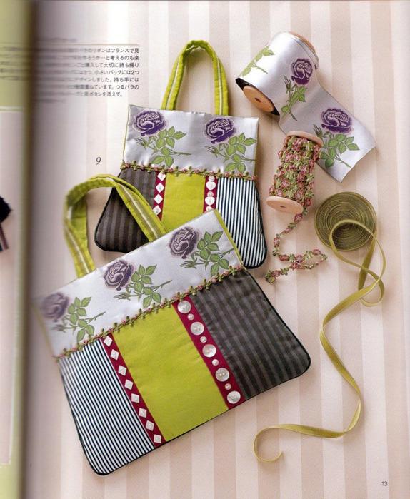 Цветочная поляна / вязание, сумка, шитье.