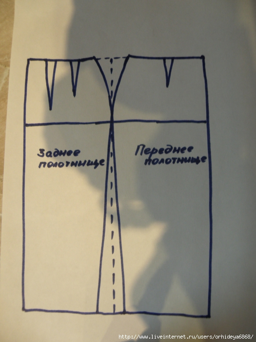 свой цитатник или сообщество!  Выкройка юбки с запАхом.  С завязками.