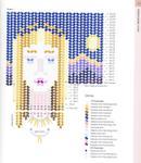 Схема для мозаичного плетения елочкой.  Подвеска.