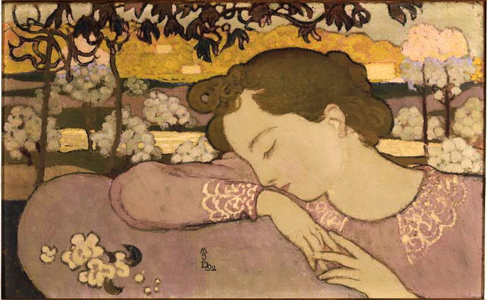 The Sleeper or Young Girl  1892 (700x432, 100Kb)