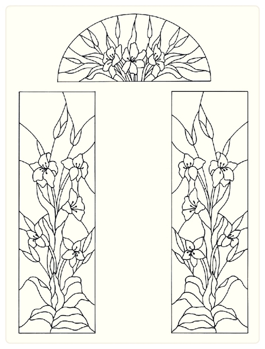 Decorative Doorways Stained Glass - 09 (530x700, 167Kb)