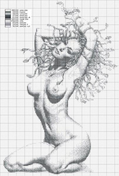 Схема вышивки крестом секси