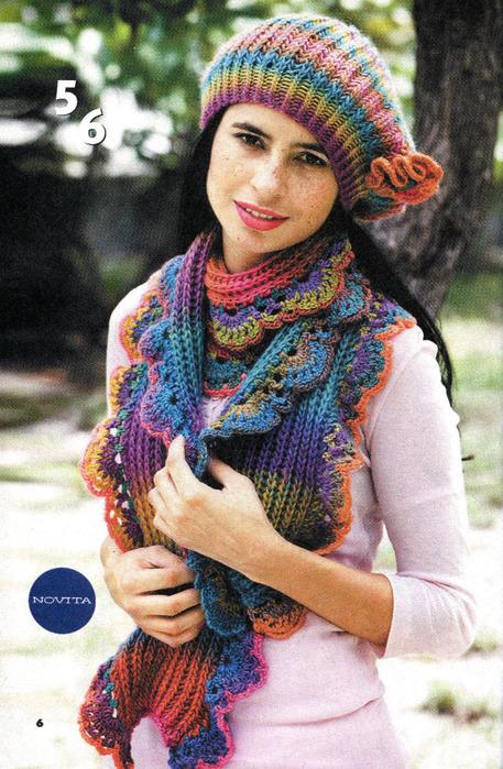вязание спицами детских шарфов.