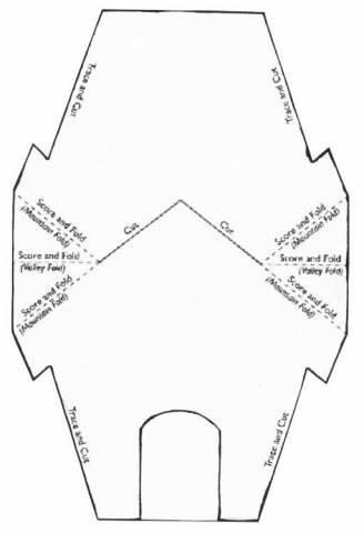 Открытка в форме домика шаблон, текст открытку синий