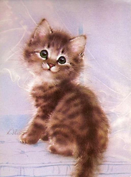 Котенок живопись картинки
