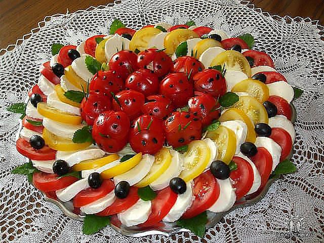 красиво украшенные салаты фото