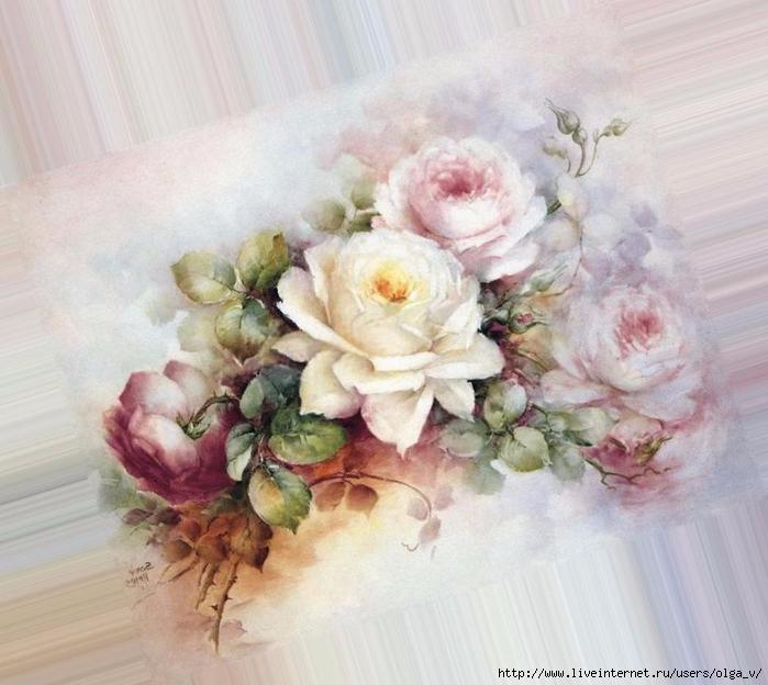 Картинки винтажные розы для декупажа, картинка