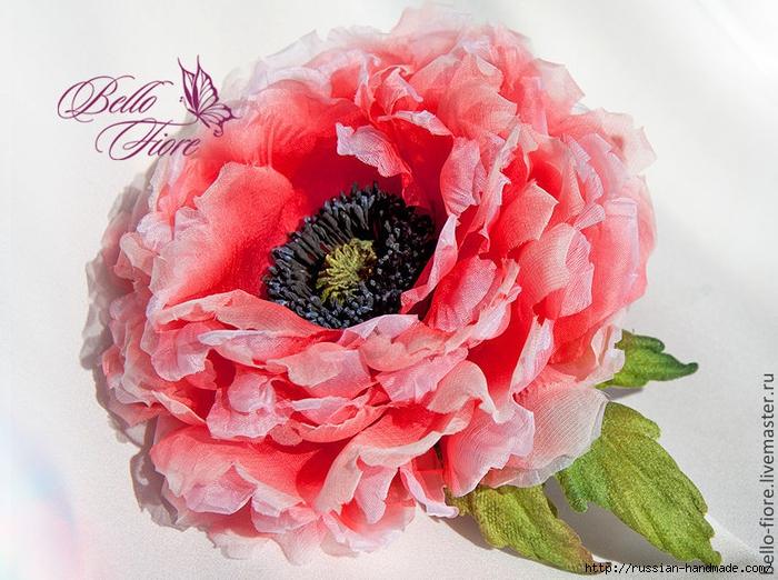 Япония цветы из ткани шелка фото мастер класс инструкция #9