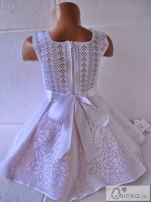 как хорошо уметь вязать платье крючком филейка
