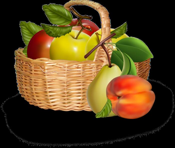 Картинка корзина с фруктами для детей, машинами раскраски