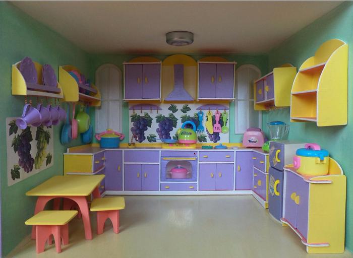 мебель для кукол руками кухня своими