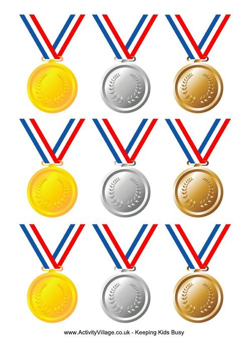 Медали картинки распечатать для