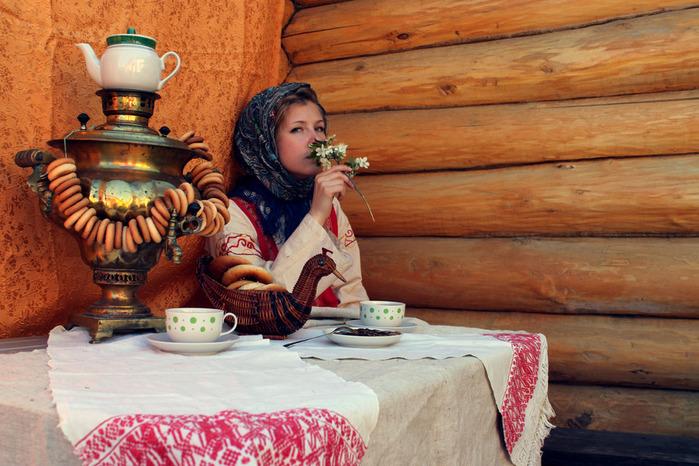 Фото шаблон русское чаепитие