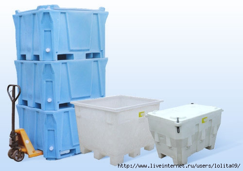 Пластиковые контейнеры и изотермические контейнеры предназначены для...