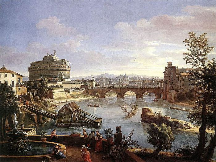 798px-The_Castel_Sant'Angelo_from_the_South (700x526, 109Kb)
