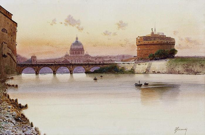 800px-Federico_Schiani_Tevere_e_Castel_Sant'Angelo (700x462, 61Kb)