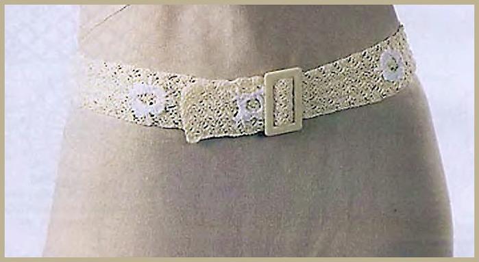 Схема плетения пояса макраме - ваш.