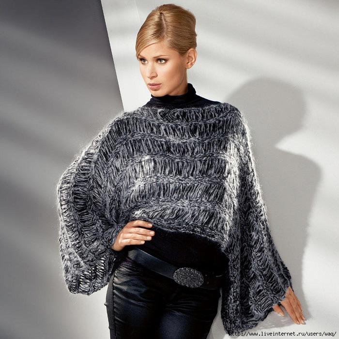 мода для полных женщин пальто пончо кардиганы.