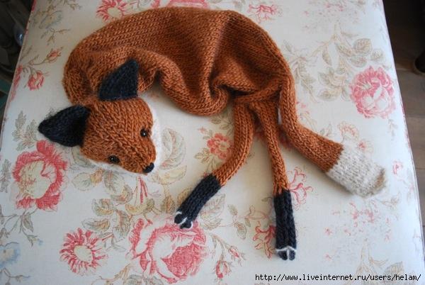 """Забавный молодежный шарфик в виде лисички в духе  """"ретро """"-20-ых годов 20..."""