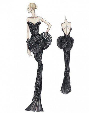 Эскизы Versace оживают.