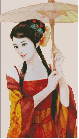 Chinese-Umbrella-cross-stitch-scheme (315x555, 41Kb)