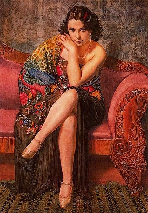George Owen Wynne Apperley.Peacock Shawl 1927  (485x700, 331Kb)