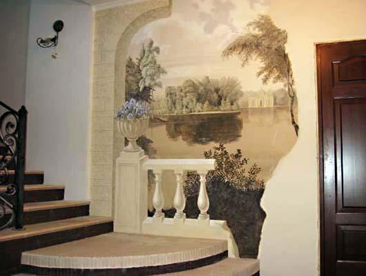 Интерьер-Роспись стен.