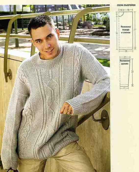 Мужские свитера из мохера вязанные спицами фото. фото вязанных моделей...