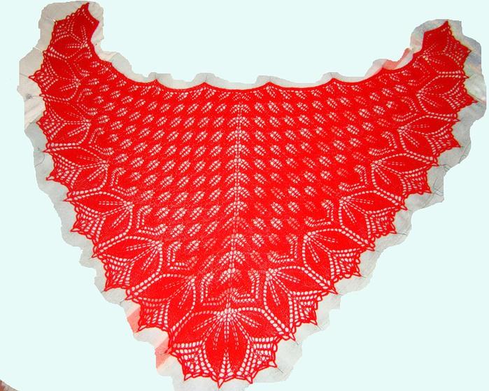 Шали типа Харуни.  - Форум по вязанию спицами и вязанию крючком.