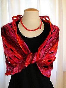 """Вязание  """" Вязаная одежда  """" шарфы, манишки. как вязать шарф Мебиус."""