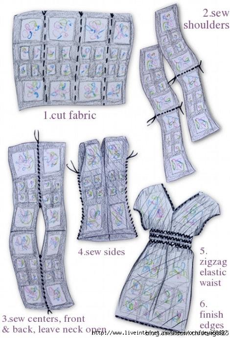 Воланы бывают разные.  Сошьем шифоновое платье легко и просто.