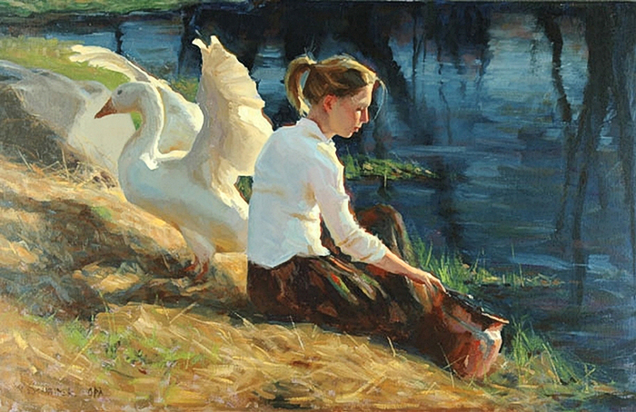 William Schneider. Evening Chore (700x454, 358Kb)