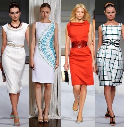 Модные платья на лето 2012 года.