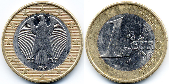 фото 1 евро монета