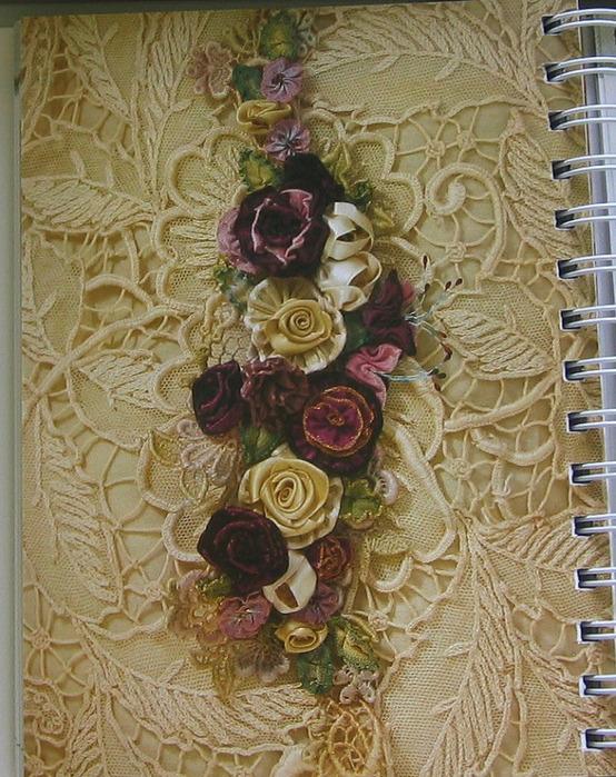 Серия сообщений. вышивка лентами, цветы из лент. милена70.