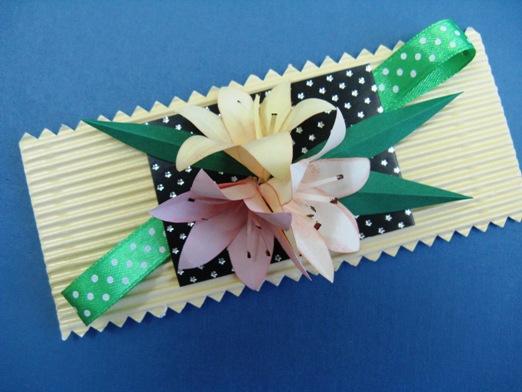Открытка из бумаги лилию, магазины открыток