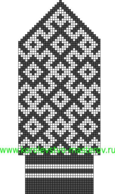 схемы вязания орнамента адидас.