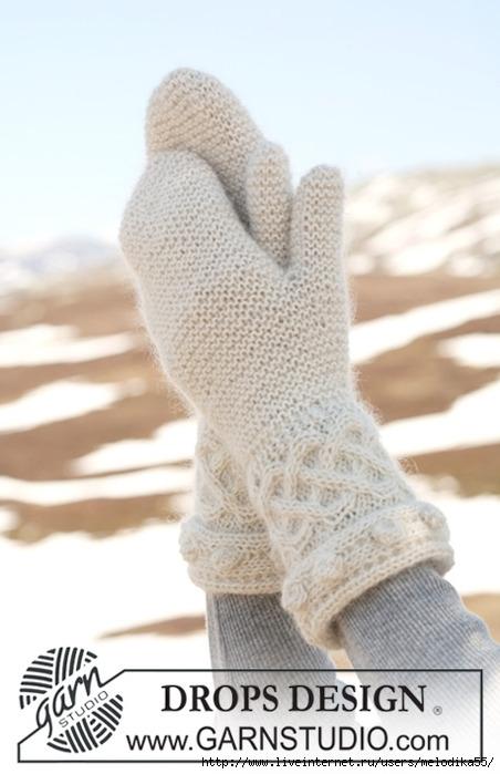 Вязание варежек спицами для начинающих рукодельниц самый...