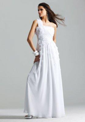 Белые длинные вечерние платья фото.