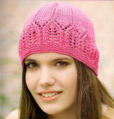 Описание: шапочки для девочек спицами Вязание.