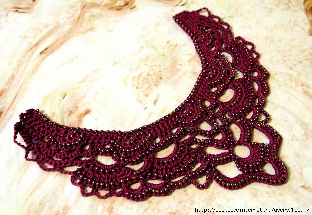 украшения крючком ожерелье с жемчугом Lace Pearls Necklace