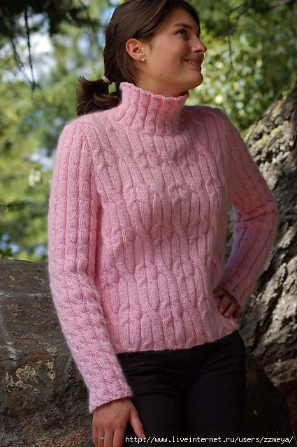 Luscious Cabled Pullover (A129) by Melissa Leapman (425x640, 225Kb)