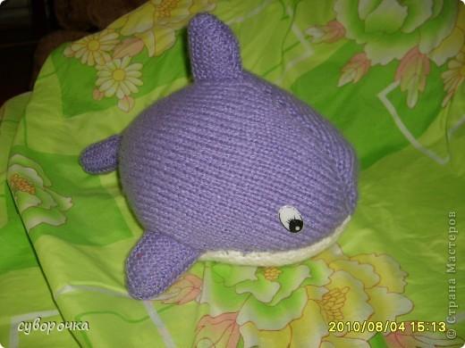 Игрушка Вязание спицами: кит-игрушка Шерсть.